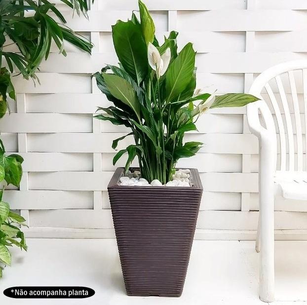 1 Vaso Plantas Aroma Resina Plastica Polietileno Q 45x35 Cm