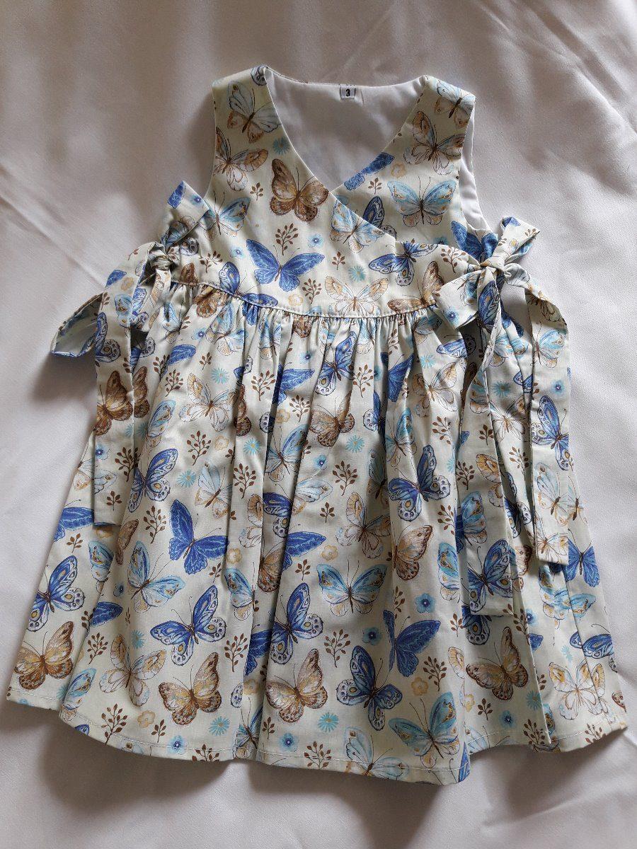 a616b5874d 1 vestido infantil  feito de tecido tricoline estampado. Carregando zoom.