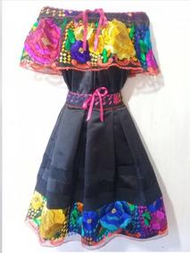 1 Vestido Tipico De Chiapas Artesanal Modelo Exclusivo