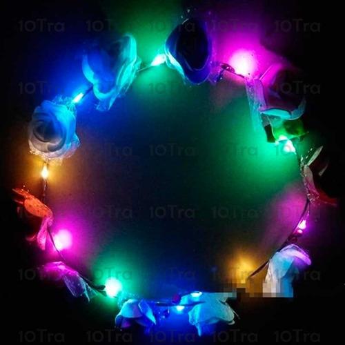1 vincha led corona flores hippie cotillon luminoso cotillon