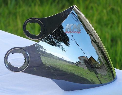 1 viseira pro tork new atomic espelhada + 1 viseira fumê