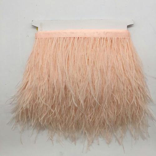 1 x franja de pluma de avestruz de yarda champán coser cost