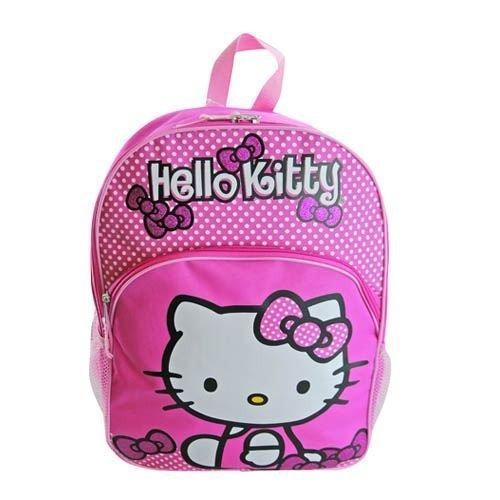 1 x hello kitty 16 rosa dot backpack fab