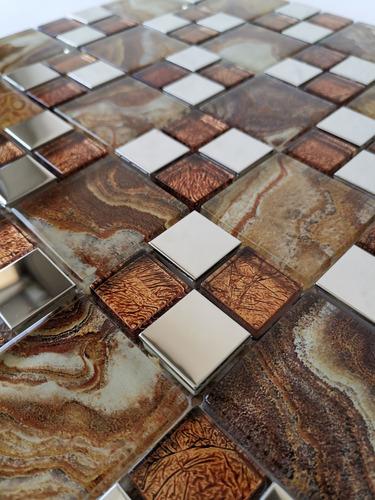 1 x malla mosaico decorativa cenefa en vidrio lisboa beige