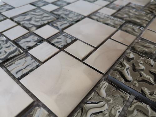 1 x malla mosaico decorativa cenefa vidrio metal marmol nilo
