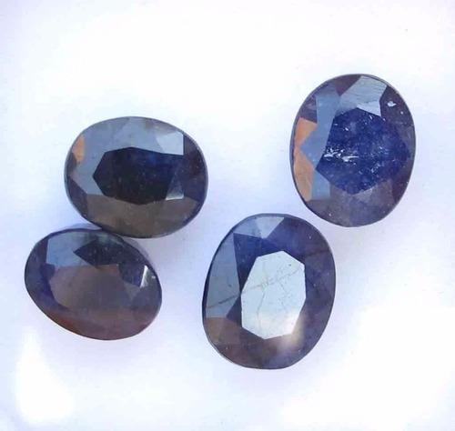 1 zafiro azul anillo dije talisman oro plata suerte