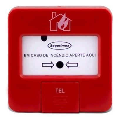 10 acionador de alame incêndio segurança c/ sirene aprovado