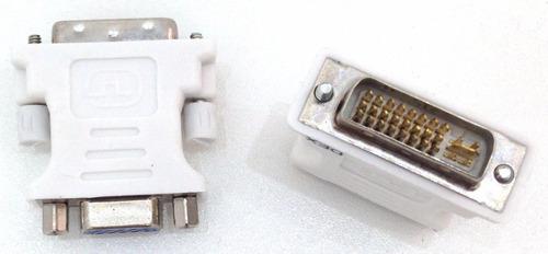 10 adaptador dvi x vga para video monitor pc dv10m