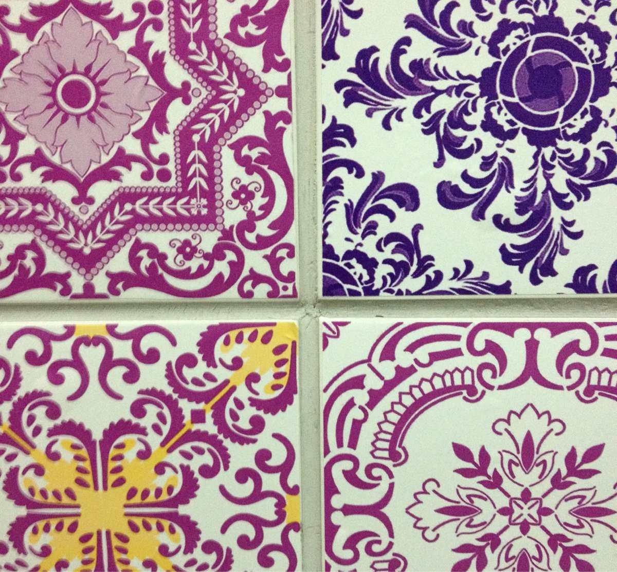 10 adesivo azulejo portugu s ladrilho hidr ulico 15x15 cm for Azulejo 15x15