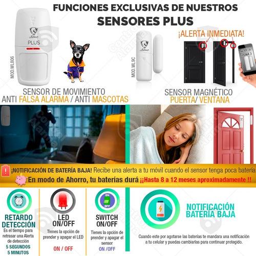 10 alarma plus wifi gsm vecinal  inalambrica seguridad casa