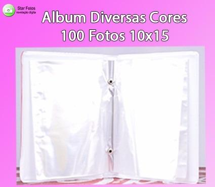 10 álbuns diversas cores - 100 fotos 10x15 cada
