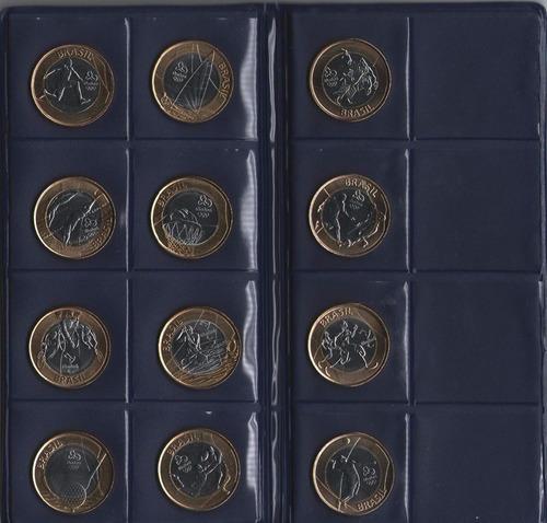 10 albuns porta moedas 17 espaços olimpiadas rio2016  preto