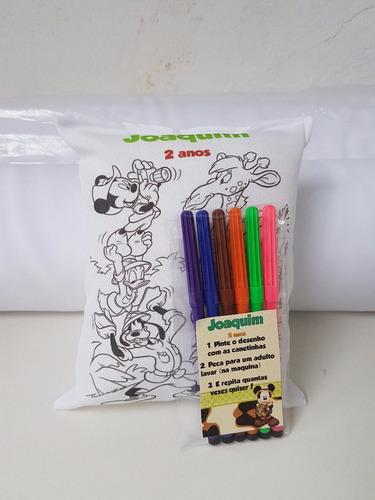 10 almofadinhas pinte e lave mickey safari colorir