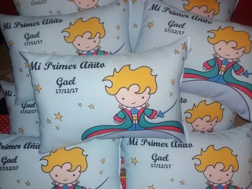 10 almohadones souvenirs cumpleaños personalizados 30x20 cm