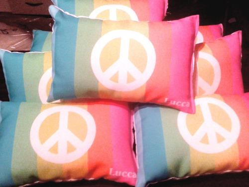 10 almohadones souvenirs infantiles personalizados 30x20 cm