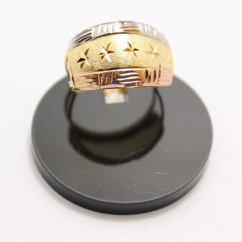 10 anéis escravas 3 cores folheados a ouro