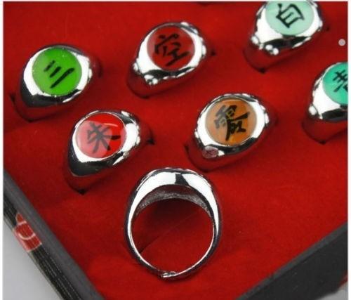 10 anillos akatsuki set  naruto shippuden envio express