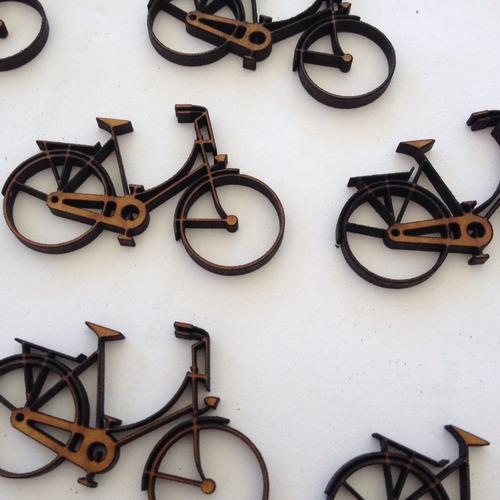 10 aplique bicicleta em  mdf