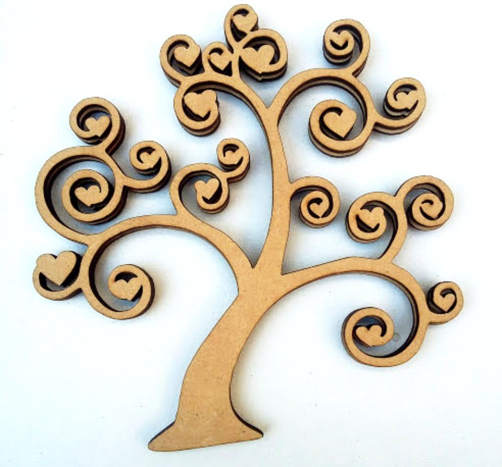10 árboles De La Vida Fibrofacil Madera Souvenir Mdf Arbol 297