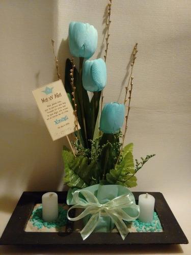 10 arreglo floral  para bautizo, confirmación, presentación.