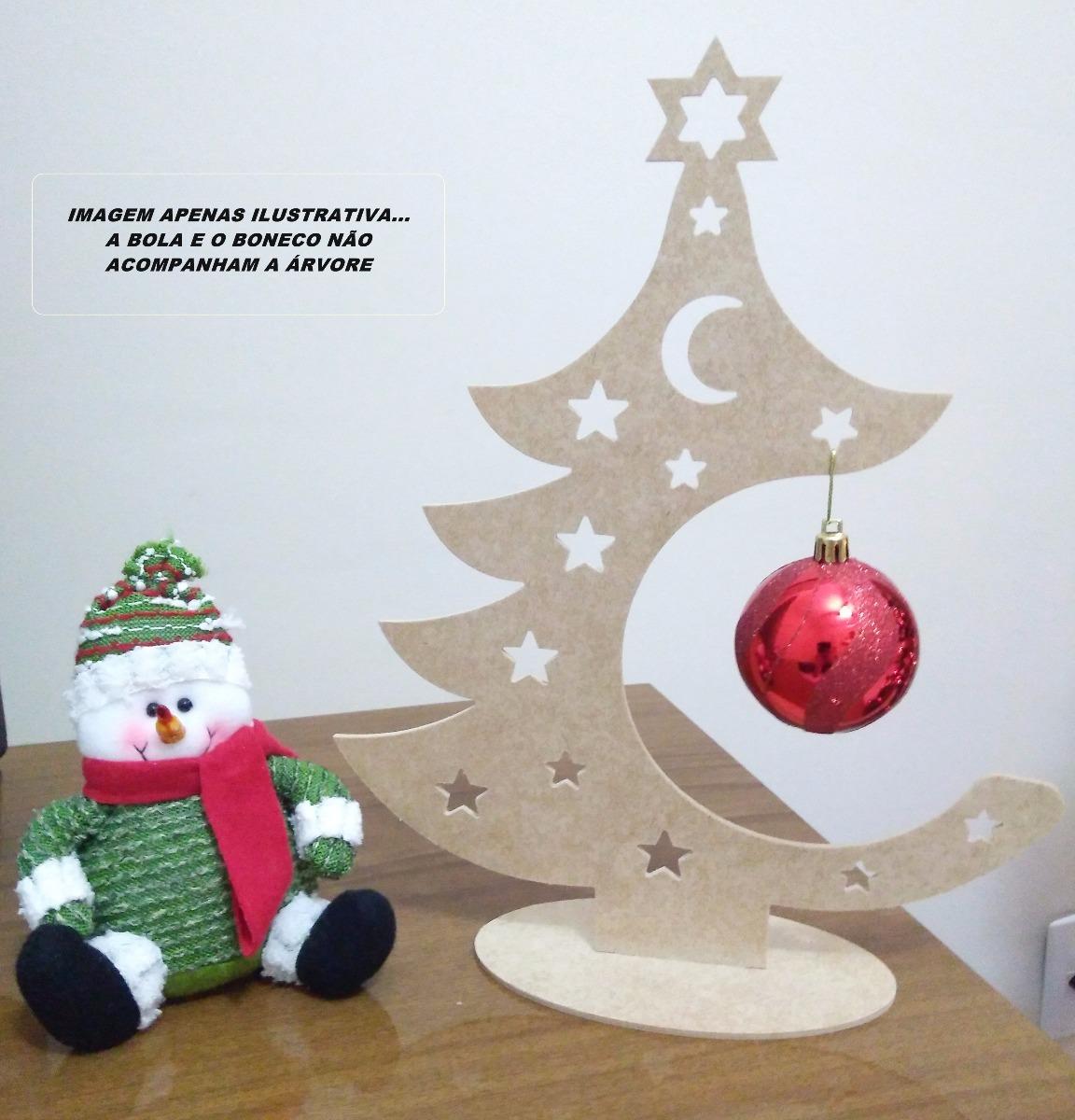 10 árvores Natal Mdf Cru Pinheiro Decoração Festa Enfeite