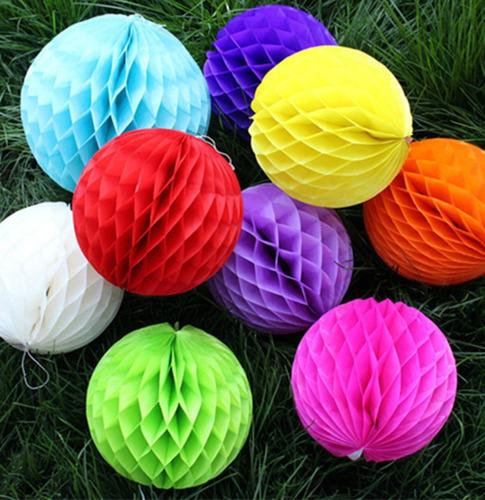 10 balão pompom colmeia bola de papel seda festa decora 20cm