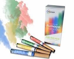 10 bastões de fumaça colorida 20 mm - chá revelação-book