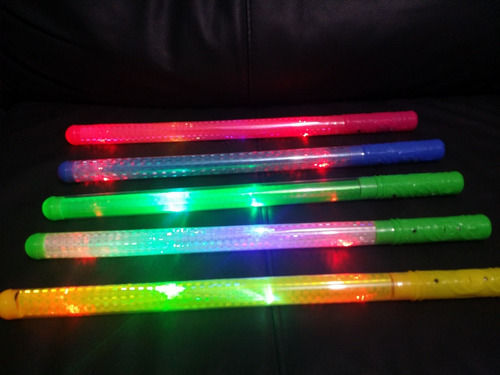 10 baston luminoso luz led espada star wars tubo neon barato
