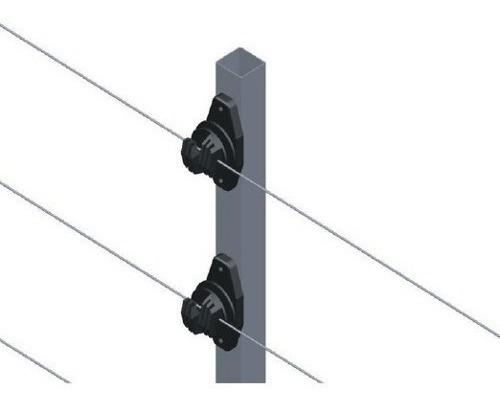 10 big haste cerca 25x25 1 metro com 6 isoladores w chumbar