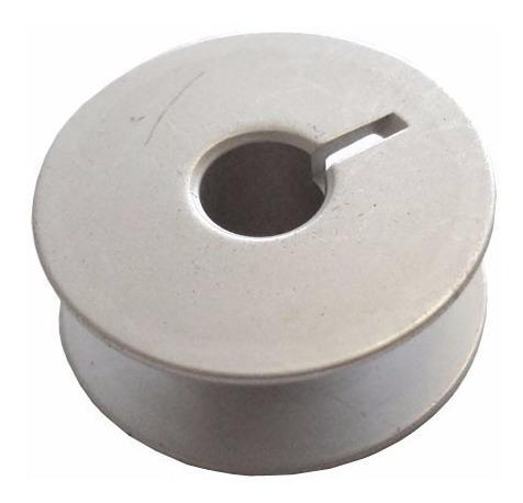 10 bobina,carretilha aluminio p/ maq costura reta industrial