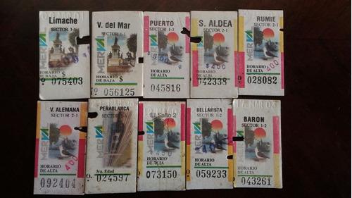 10 boletos de tren diferentes valparaíso viña (3w