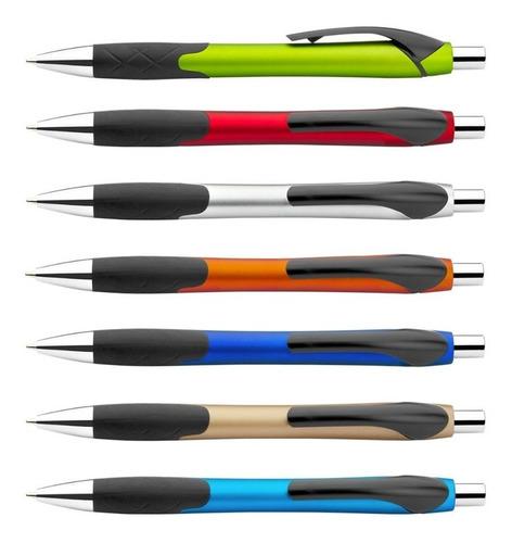 10 bolígrafos esfero con sistema de apertura retráctil