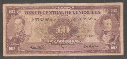 10 bolívares 1961 h7