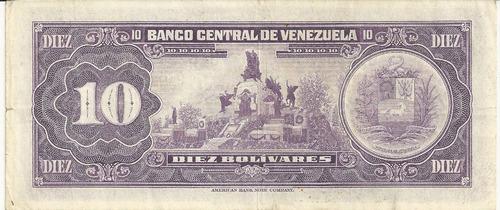 10 bolívares - jan/74 - venezuela - fe