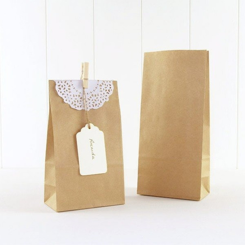 10 bolsa papel kraft tarjeta regalo dulce decorado