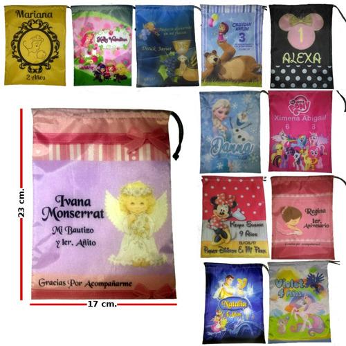 10 bolsas personalizadas dulceros recuerdos de tu fiesta