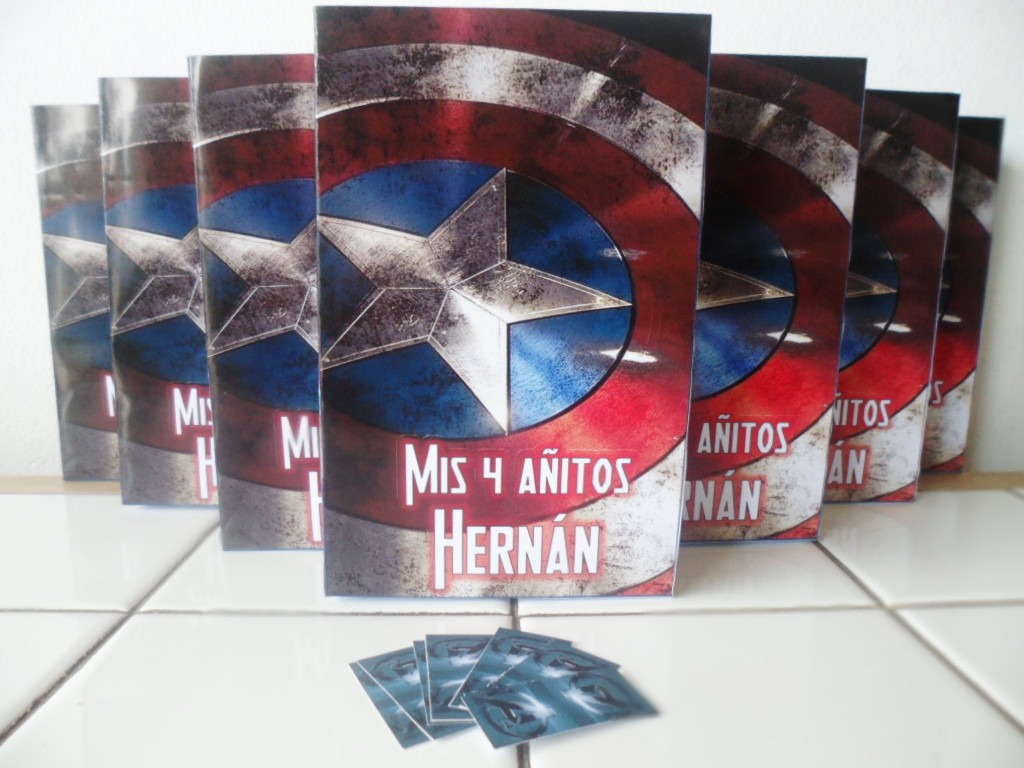 10 Bolsitas Cumpleanos Capitan America Personalizadas Lomas 160