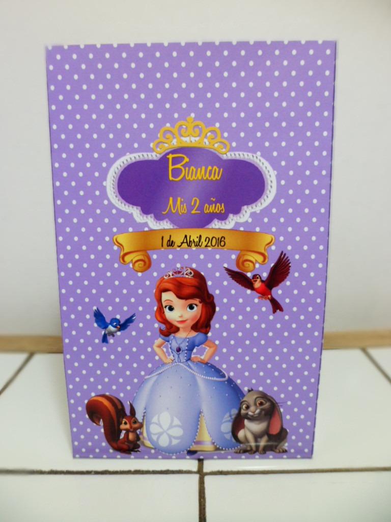 031e26d48 10 bolsitas cumpleaños princesa sofía personalizadas lomas. Cargando zoom.