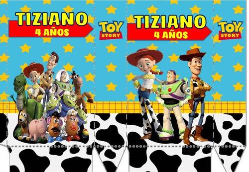 10 bolsitas golosineras c/ cierrabolsa toy story disney