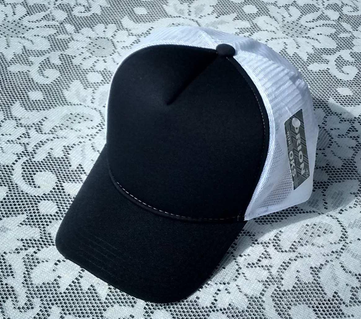 10 boné sem estampa trucker tela aba curva preto branco liso. Carregando  zoom. fc3e14c202f