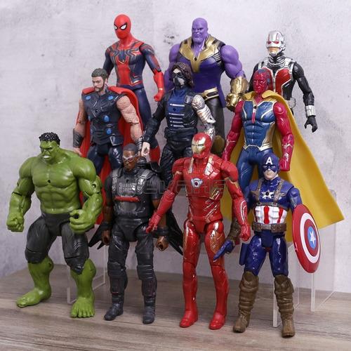 10 bonecos vingadores guerra infinita thanus-homem aranha