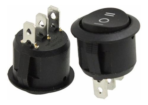 10 botão interruptor rocker switch on/off  tic/tac 3 fases