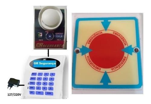 10 botão sem fio + cabo usb  p/campainha alarme casa repouso