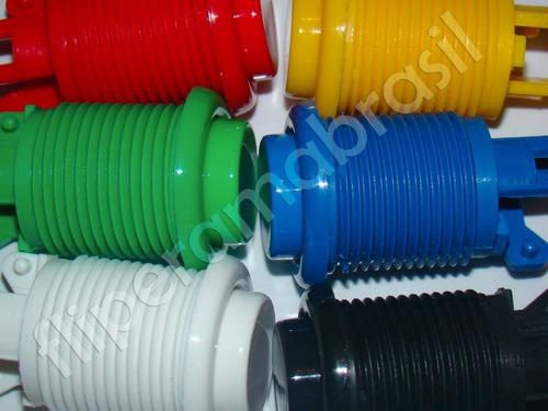 10 botões nylon - monte seu fliperama - controle arcade
