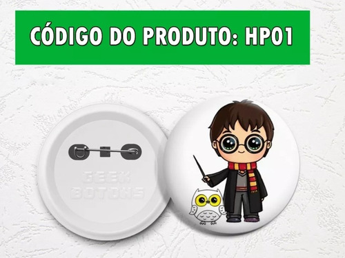 10 botons/ buttons/ bottons do harry potter!