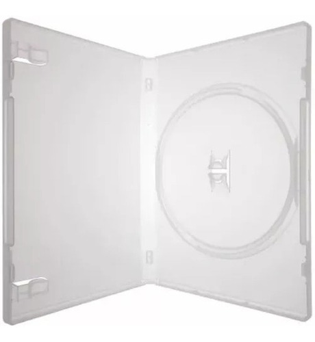 10 box / estojo para cd / dvd transparente - 14mm - amaray