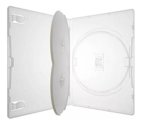 10 box estojo triplo cd / dvd translúcido soy 14mm grosso