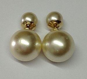 05e08cb50f8 10 Brincos Dior Inspired Pérola Folheado Ouro 18k Atacado - R  115 ...