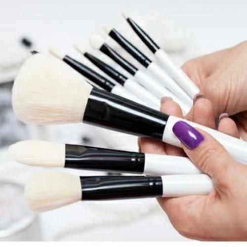 10  brochas/ pinceles maquillaje calidad premium