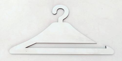 10 cabides de laços mdf branco - oferta exclusiva